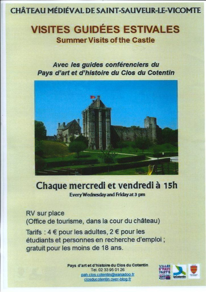 VISITES GUIDÉES ESTIVALES DU CHÂTEAU DE SAINT-SAUVEUR-LE-VICOMTE