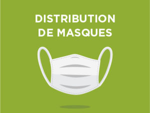 Distribution de masques lavables de protection