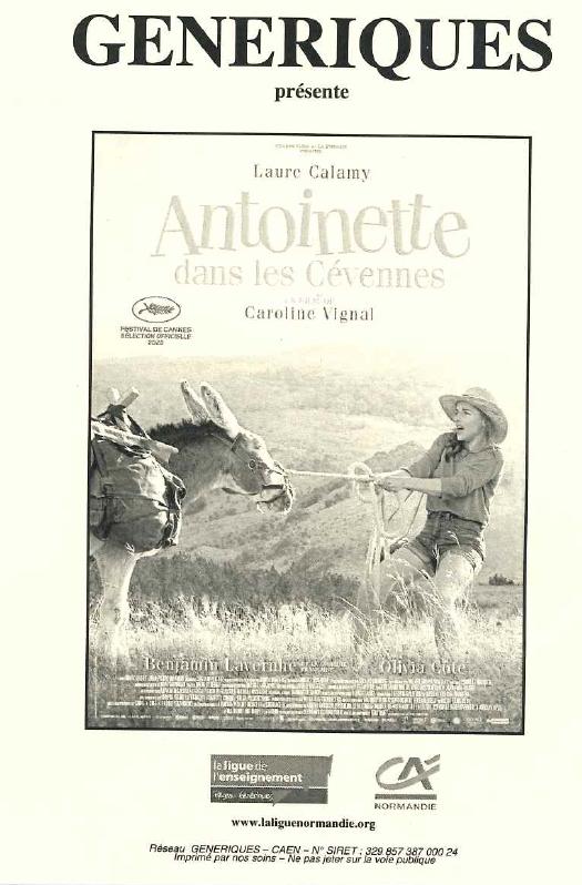 Antoinette dans les Cévennes Cinéma  «le Normandy» samedi 24 octobre 2020 à 20h30