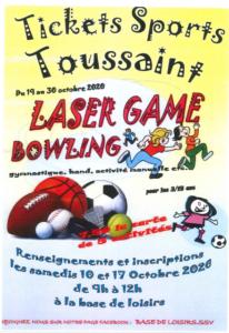 Tickets Sports Toussaint du 19 au 30 octobre 2020