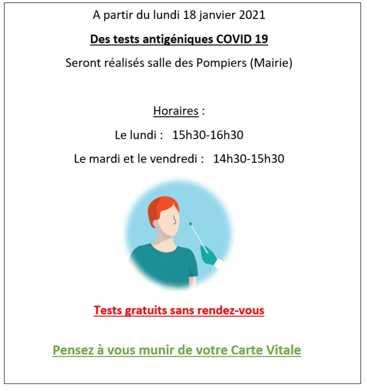 Tests antigéniques COVID19