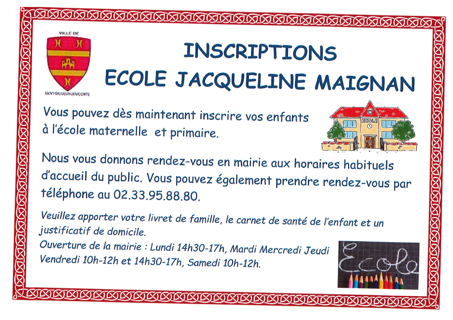 Inscription scolaire 2021/2022