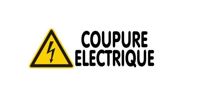 RISQUE  DE COUPURE DE L'ALIMENTATION ELECTRIQUE
