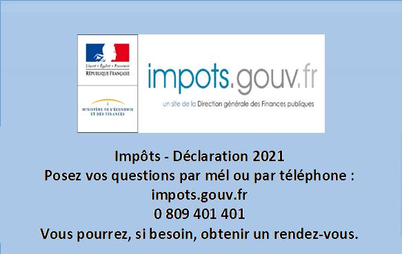 INFO – Déclaration d'inpôts 2021