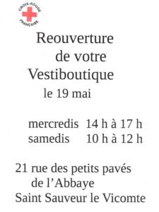 Réouverture Vestiboutique