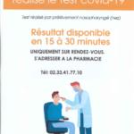 Test antigénique sur rendez-vous