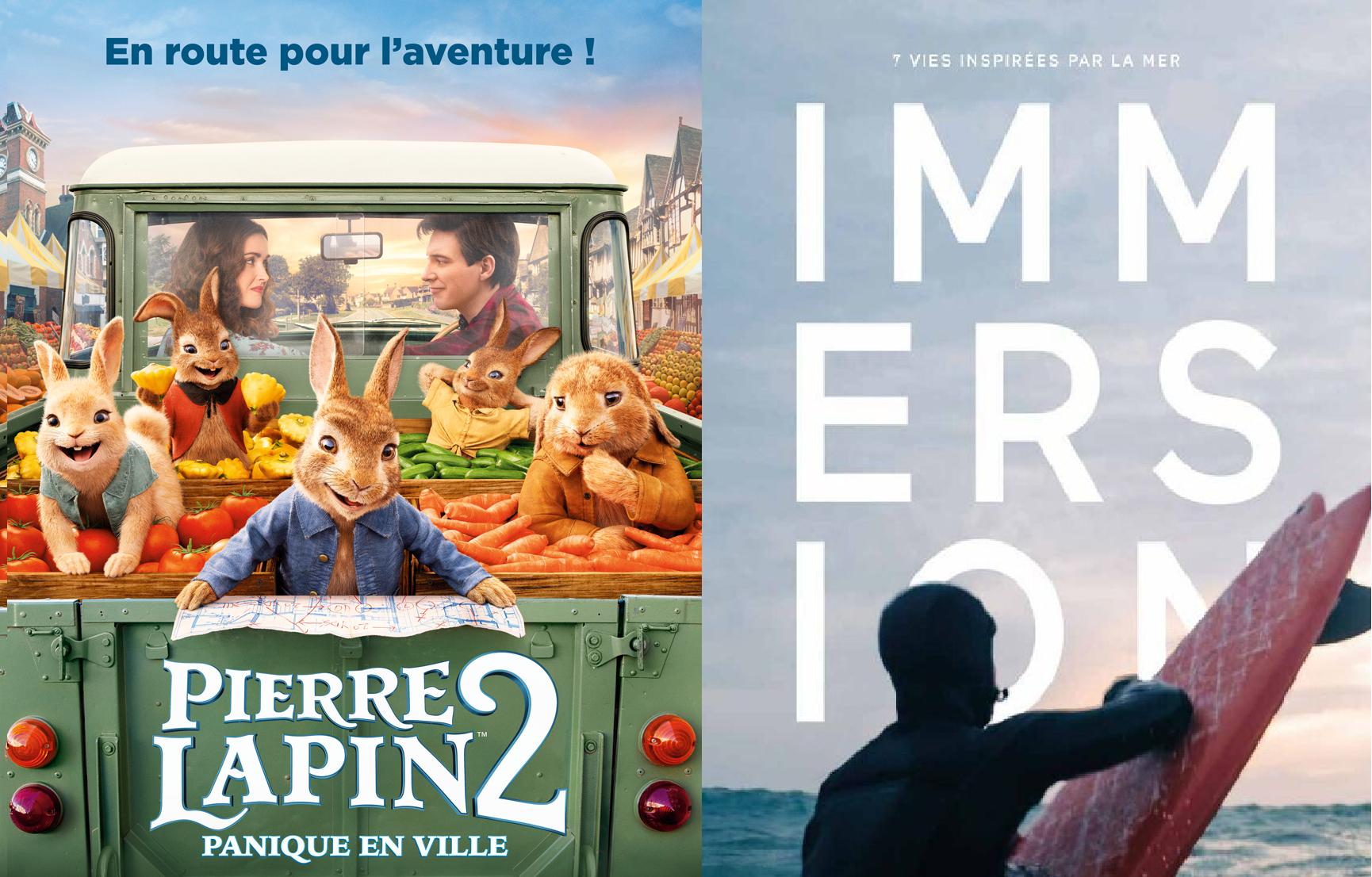 Cinéma – Pierre Lapin 2 {15h00} — Immersion {18h00}