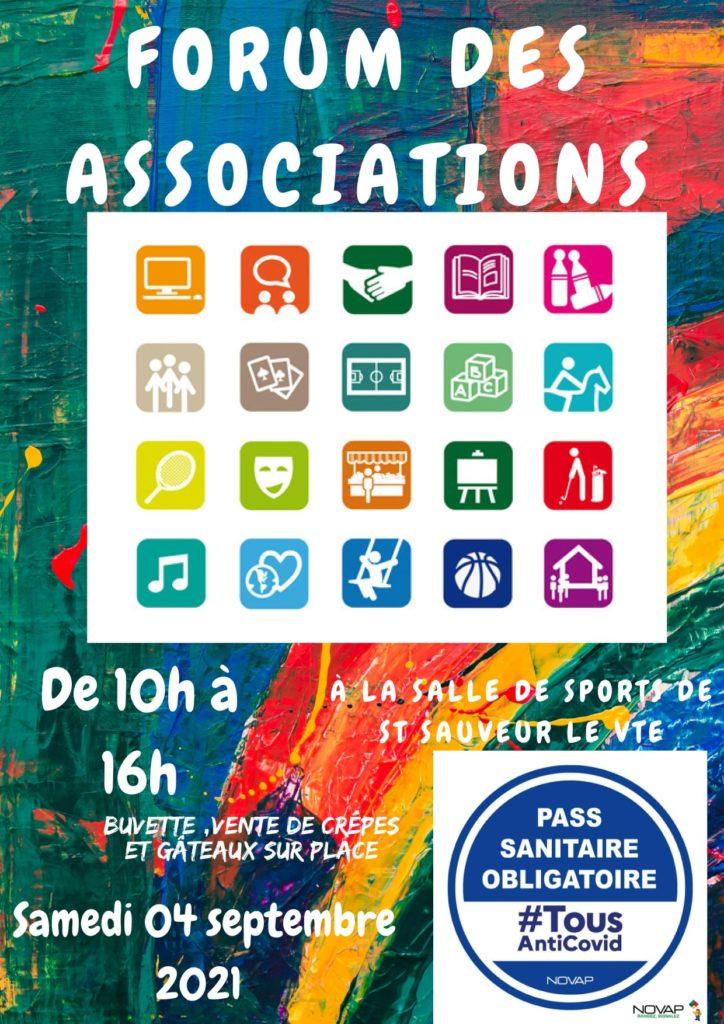 Forum des associations 2021 – PASS SANITAIRE OBLIGATOIRE