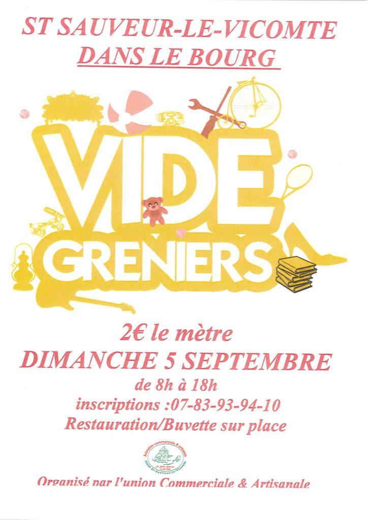 VIDE-GRENIERS – Dimanche 5 septembre
